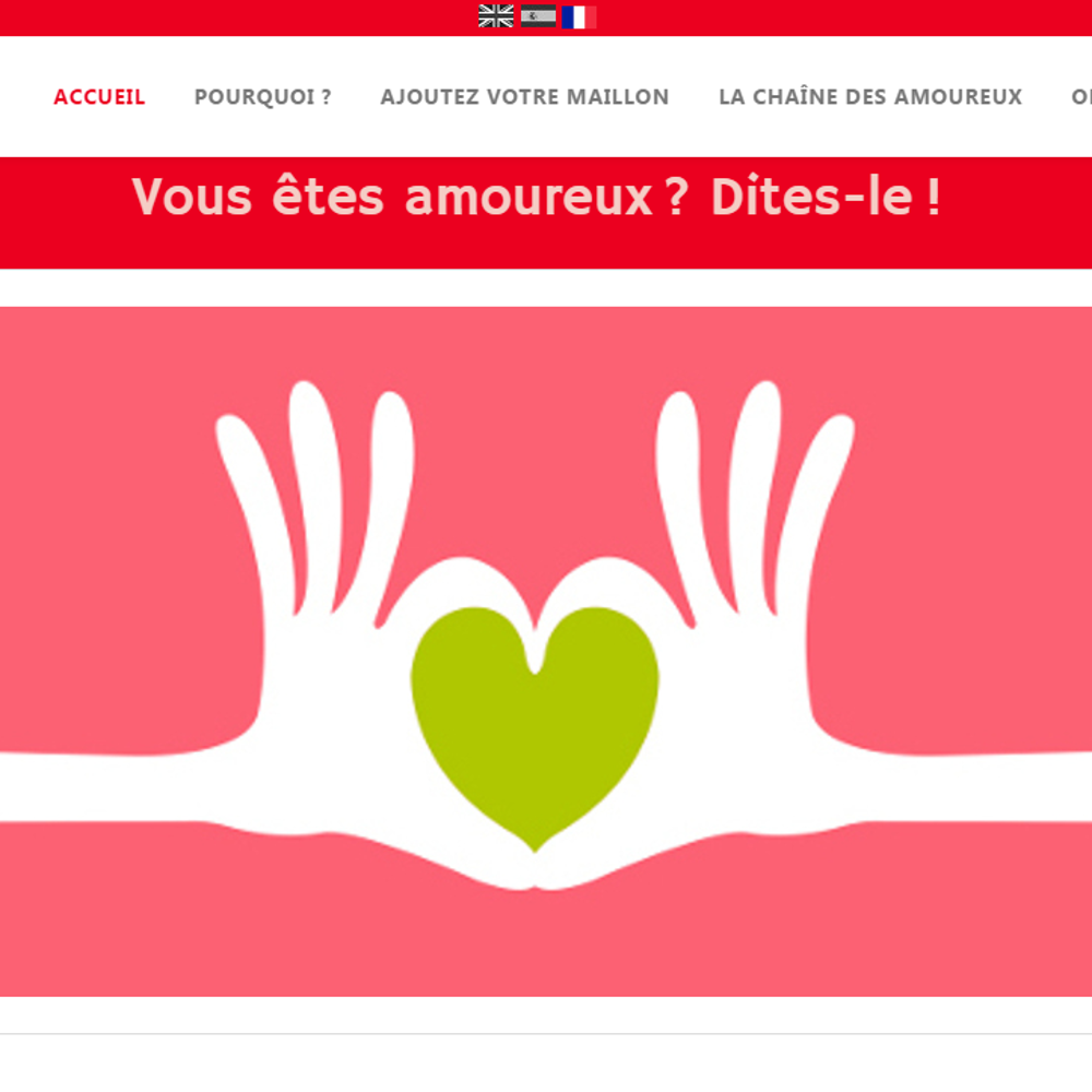 La Chaine d'Amour - creation site internet
