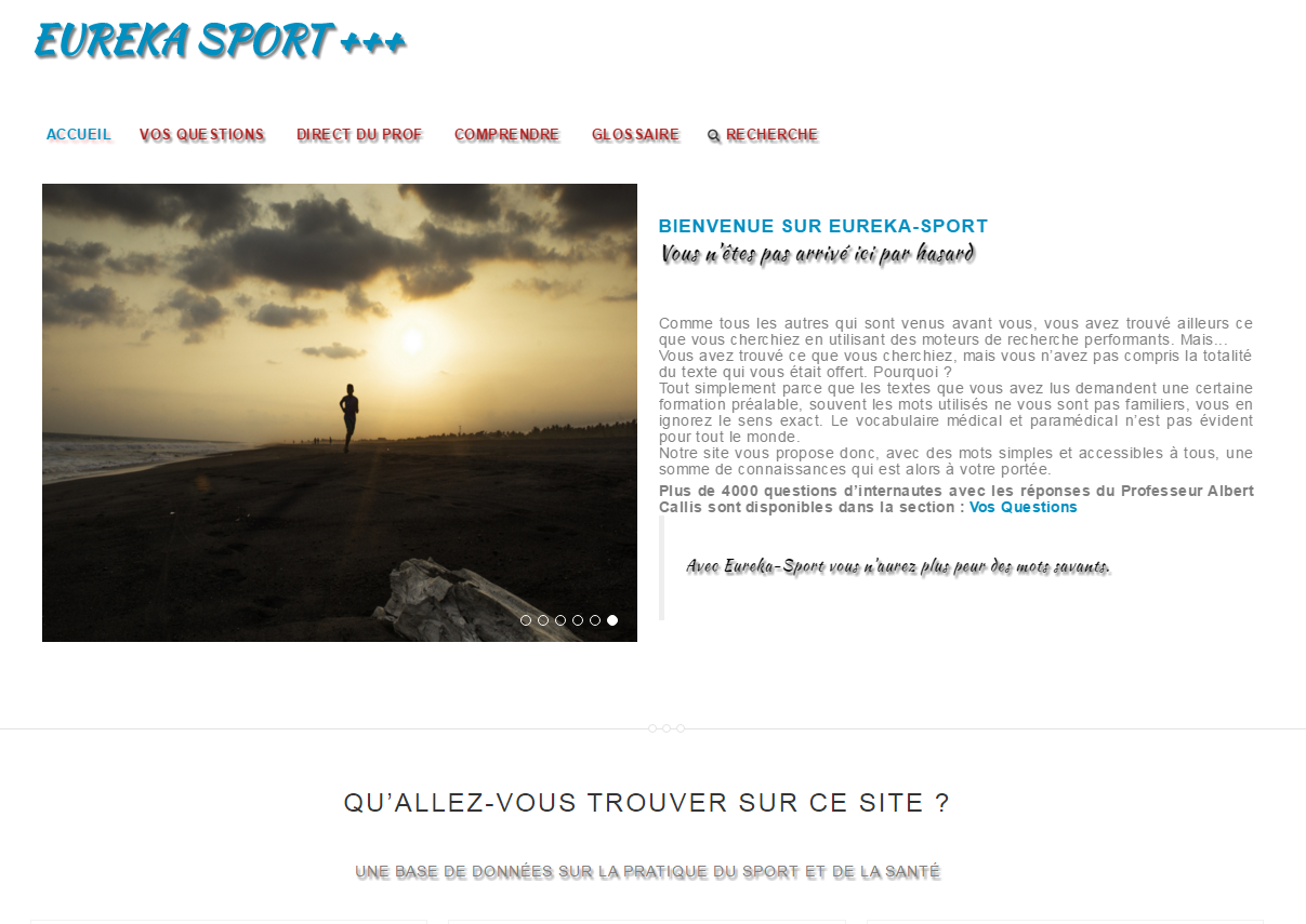 Eureka Sport - creation site internet
