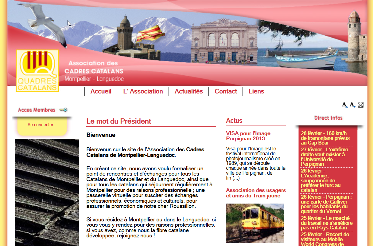 Cadres Catalans de Montpellier - creation site internet