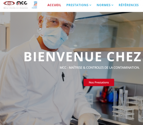 MCC - Maitrise & Controles de la Contamination - creation site internet